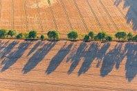 Luftbild von Kulturlandschaft mit Endmoraenen auf dem Geestruecken in Schleswig-Holstein