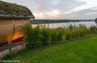 Bistensee am Abend Blick vom Toepferhaus
