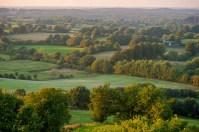 Knicklandschaft im Naturpark Huettener Berge Blick vom Aschberg nach Nordwesten