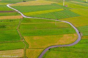 Kulturlandschaft in Schleswig-Holstein von oben