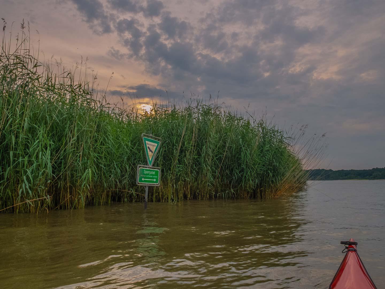 Die Vegetation der Uferbereiche kann nur unzureichend geschützt werden.