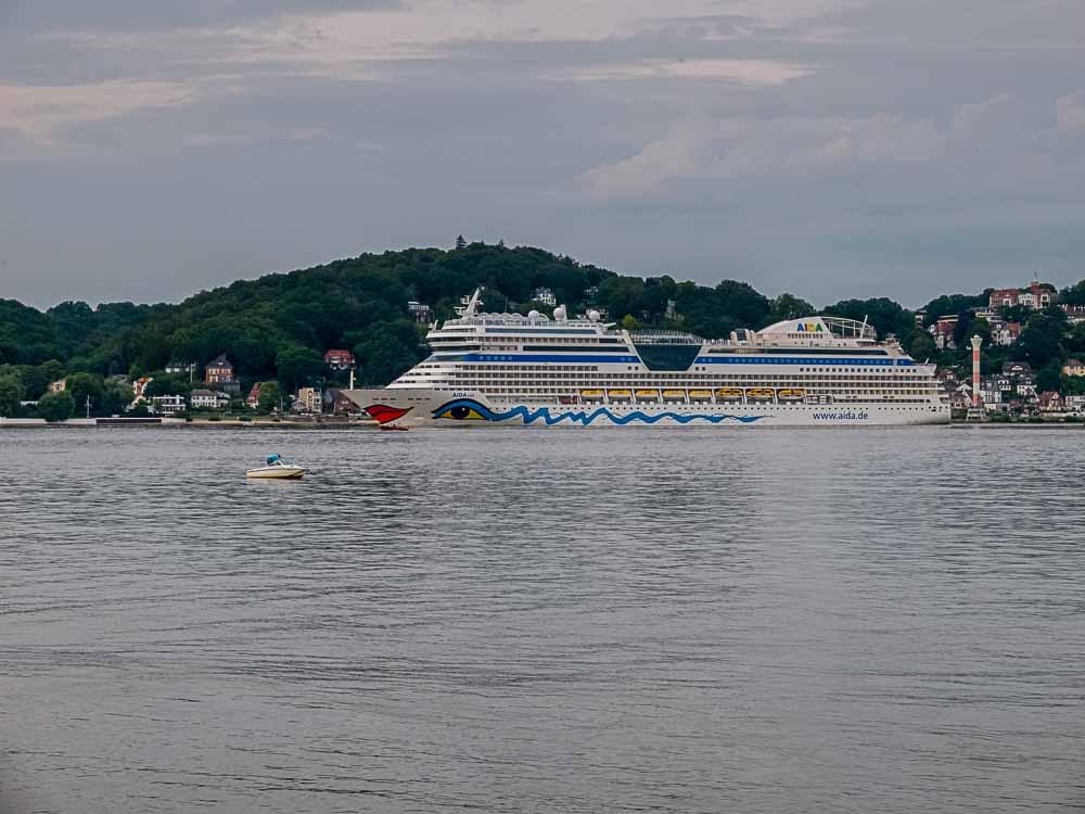 Aida Cruise vessel on elbe river