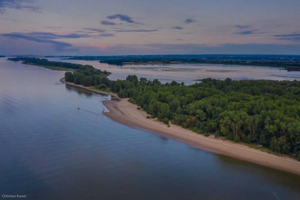 aerial view elbe island