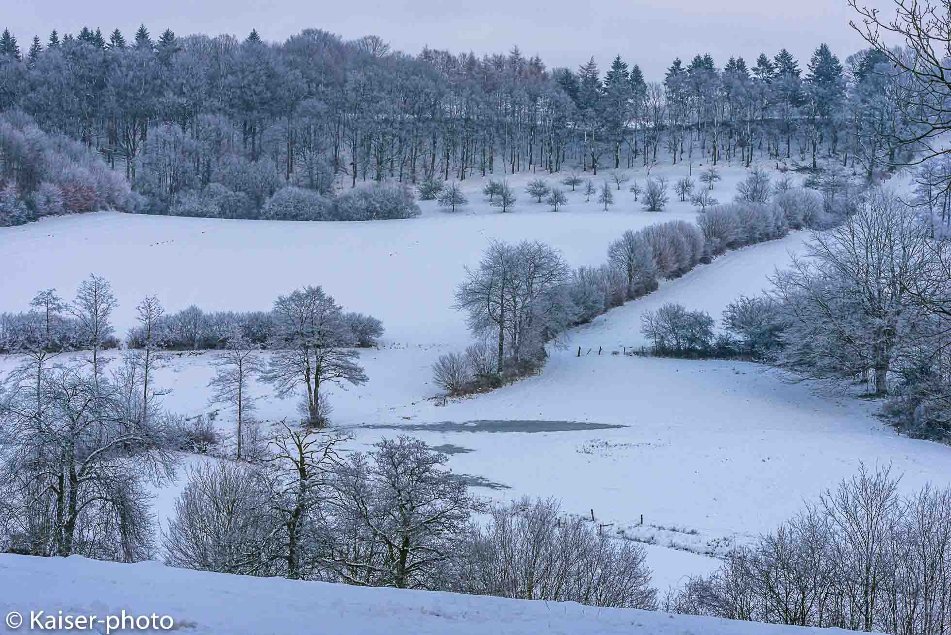 Snowy Wintertime in northern Germany