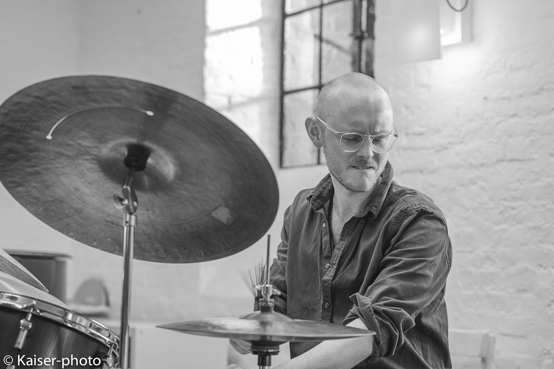 Drummer Moritz Hamm in Concert in the  Alte Druckerei